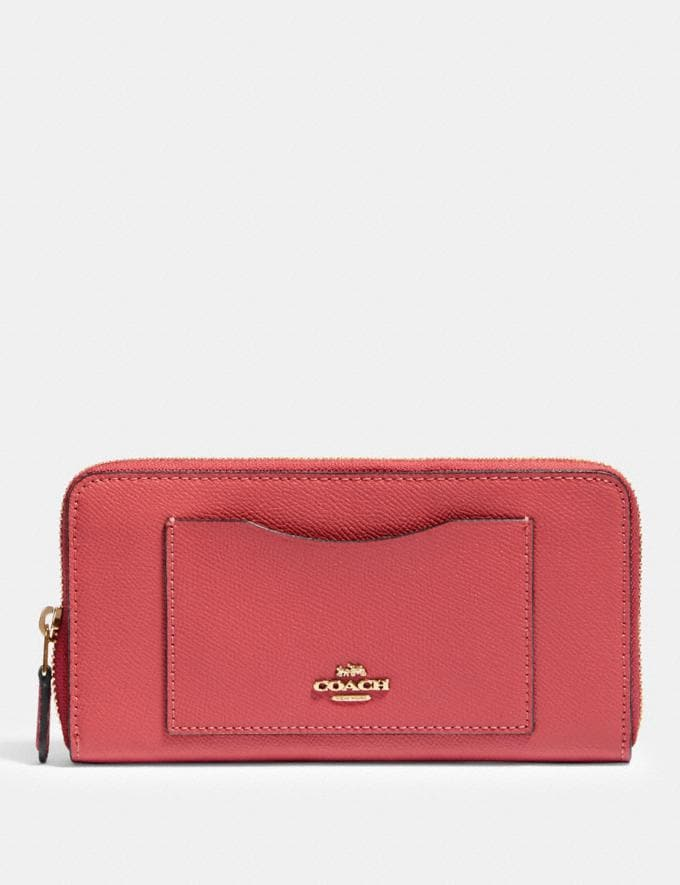 Coach Accordion Zip Wallet Im/Poppy Explore Women Explore Women Wallets