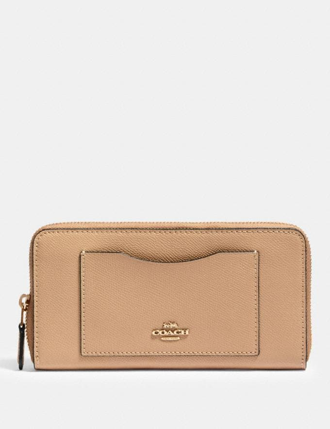 Coach Accordion Zip Wallet Im/Taupe
