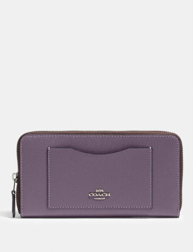 Coach Accordion Zip Wallet Sv/Dusty Lavender Clearance