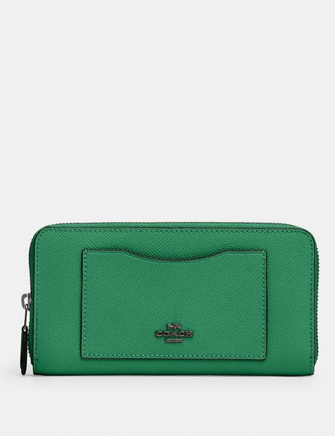 Coach Accordion Zip Wallet Sv/Shamrock Accessories Wallets