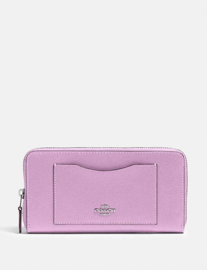 Coach Accordion Zip Wallet Sv/Violet Orchid Outlet Women's Wallets