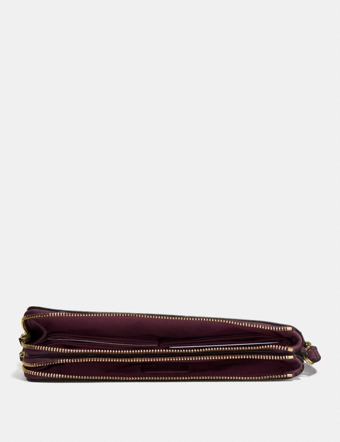 Coach Double Zip Wallet Gold/Oxblood Gifts For Her Under $300 Alternate View 1