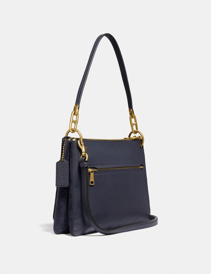 Coach Dreamer Shoulder Bag With Rivets Midnight Navy/Brass Women Bags Shoulder Bags Alternate View 1