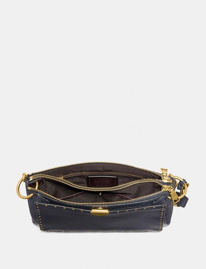 Coach Dreamer Shoulder Bag With Rivets Midnight Navy/Brass Women Bags Shoulder Bags Alternate View 2
