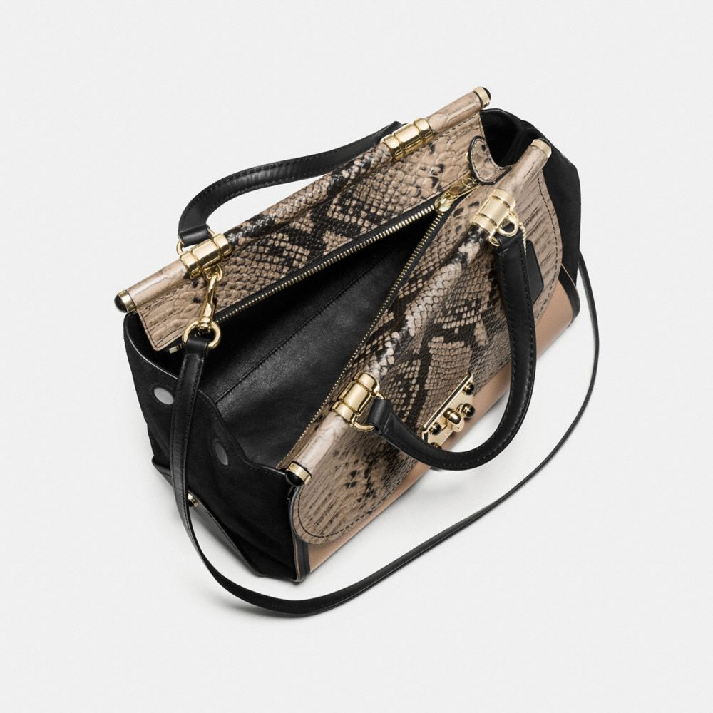 Coach Drifter Carryall in Colorblock Exotic Embossed Leather Alternate View 2
