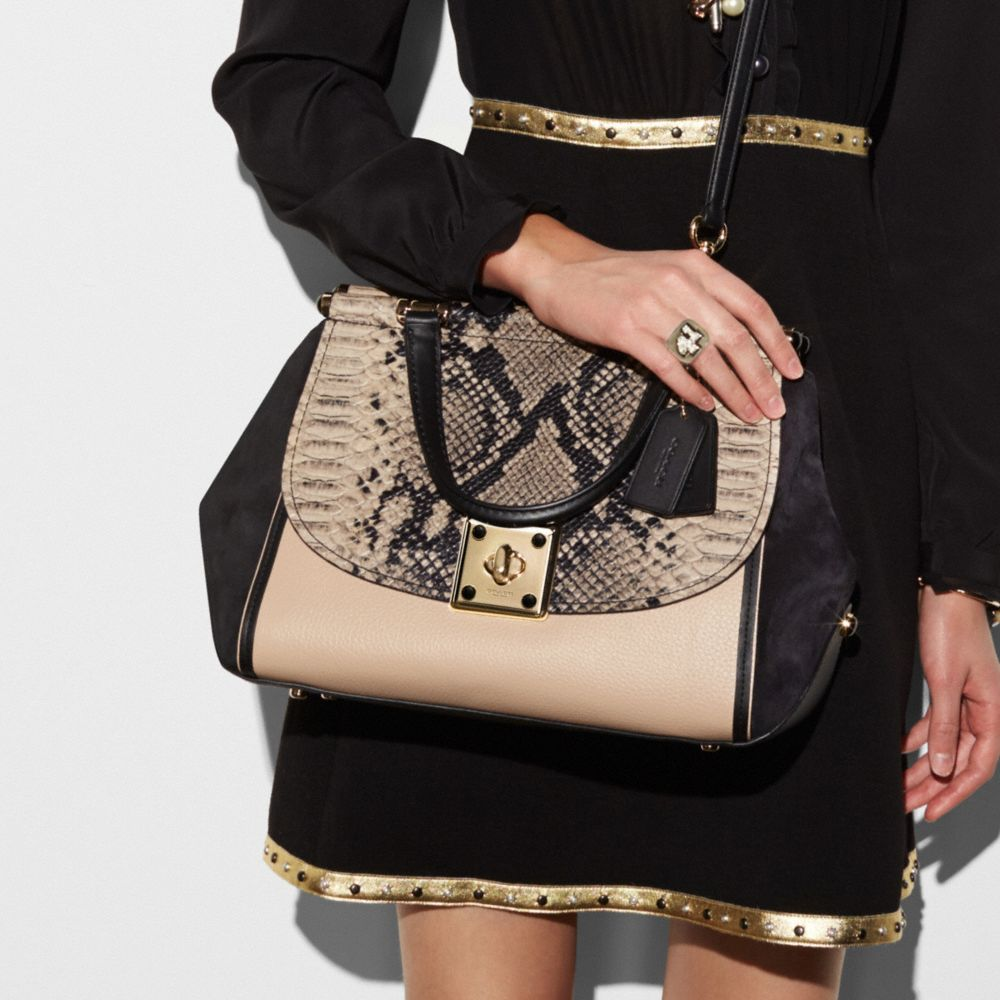 Coach Drifter Carryall in Colorblock Exotic Embossed Leather Alternate View 3