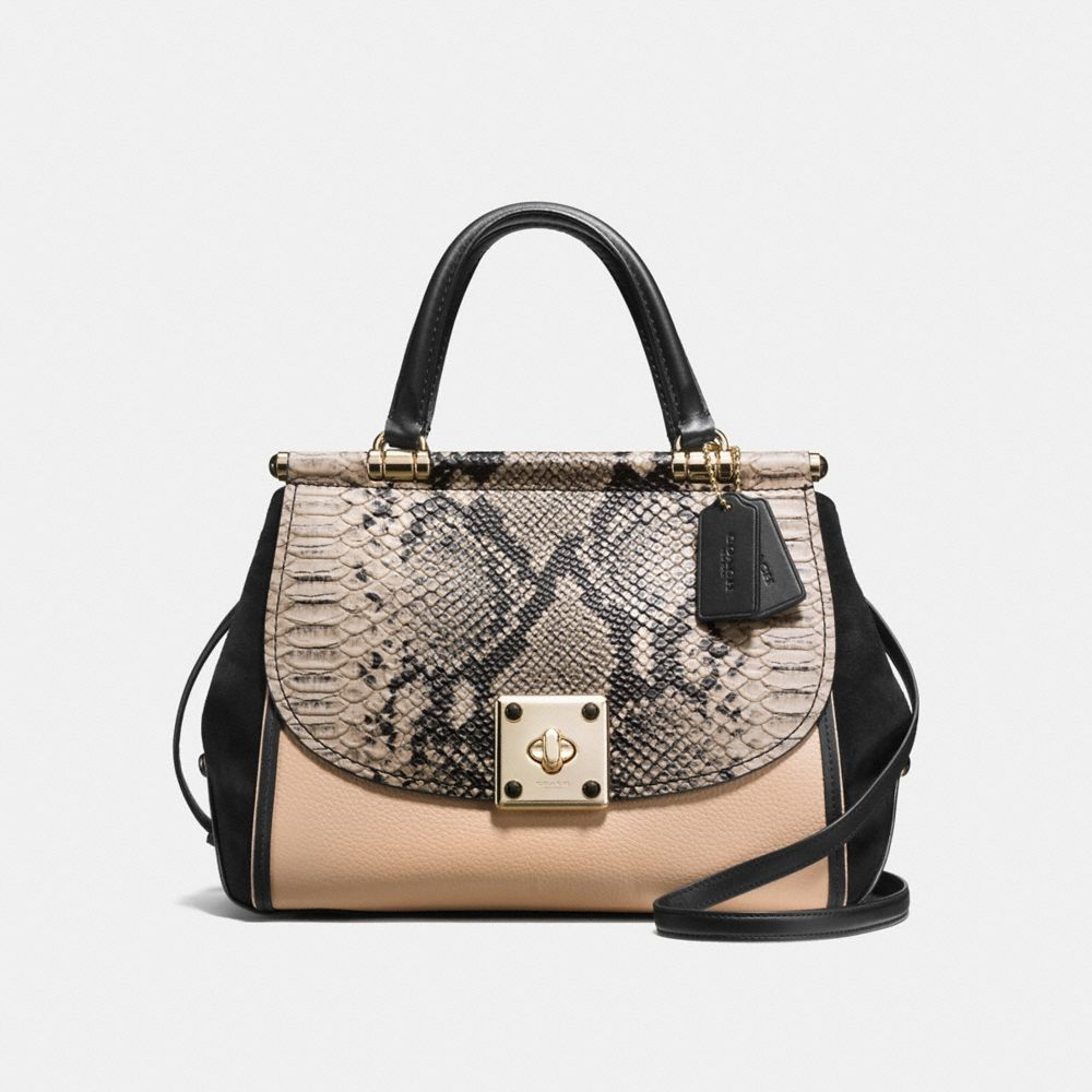Drifter Carryall in Colorblock Exotic Embossed Leather