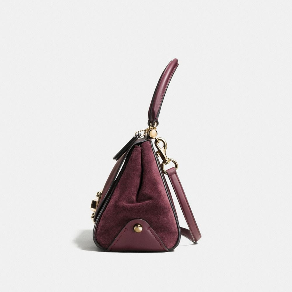 Drifter Top Handle Satchel in Colorblock Exotic Embossed Leather - Autres affichages A1