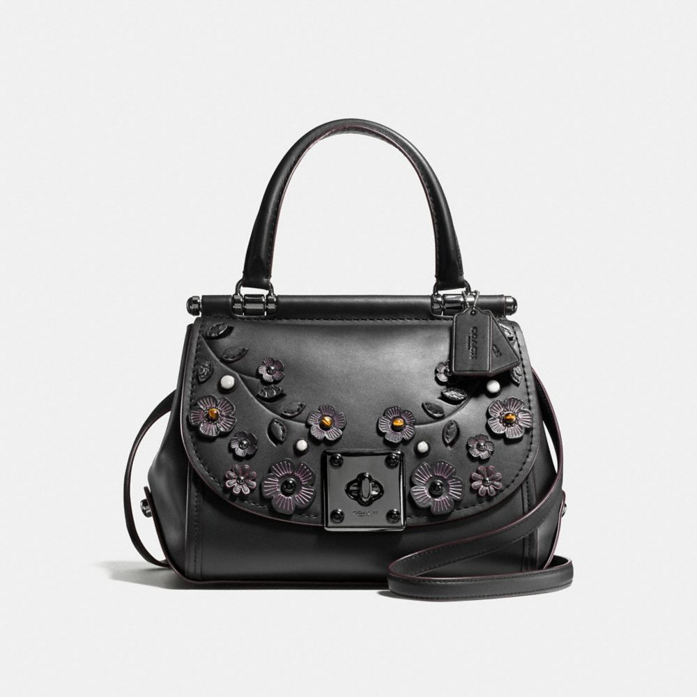 DRIFTER TOP HANDLE SATCHEL IN WILLOW FLORAL PRINT LEATHER