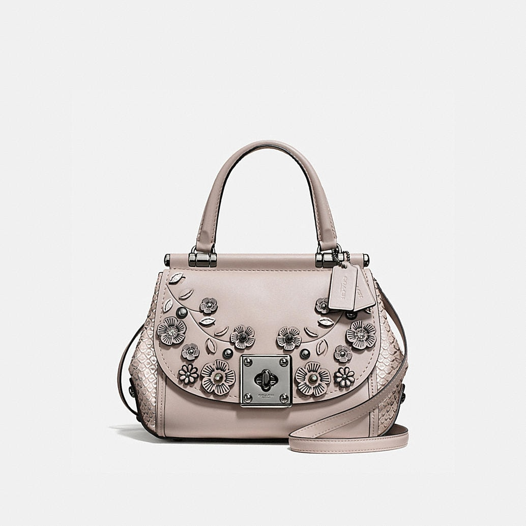 Drifter Top Handle Satchel With Willow Floral Applique Coach