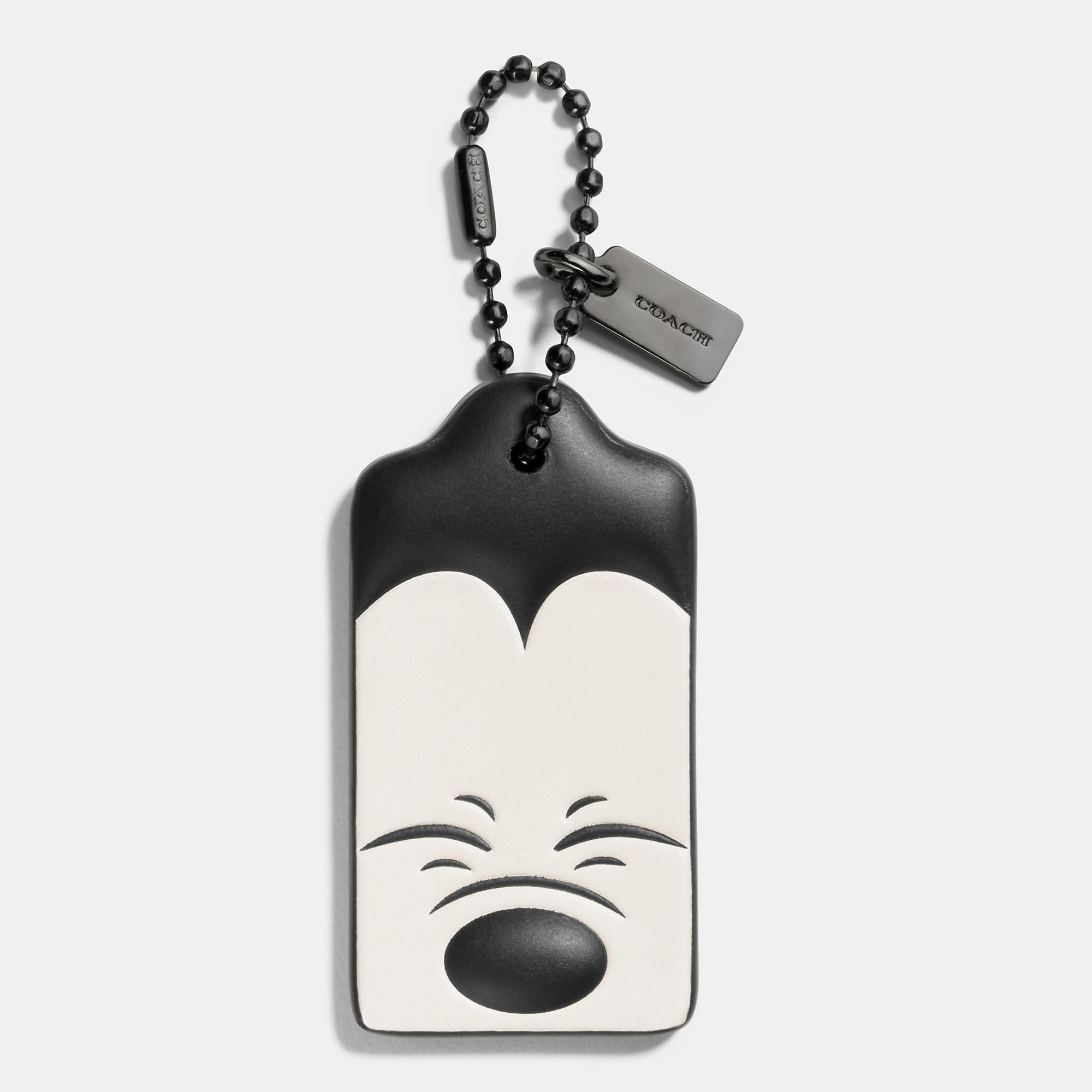 Coach Squinting Mickey Hangtag In Glovetanned Leather - Disney