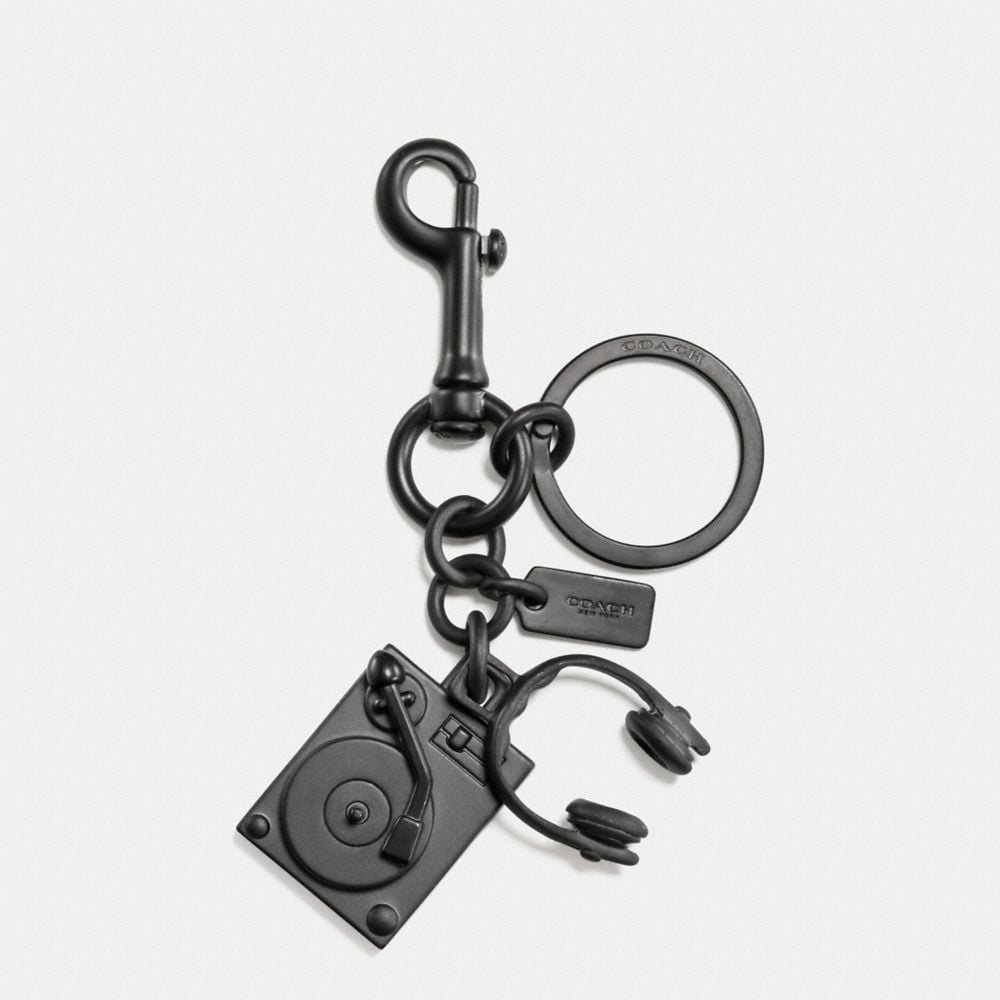 Coach Turntable and Headphones Key Ring