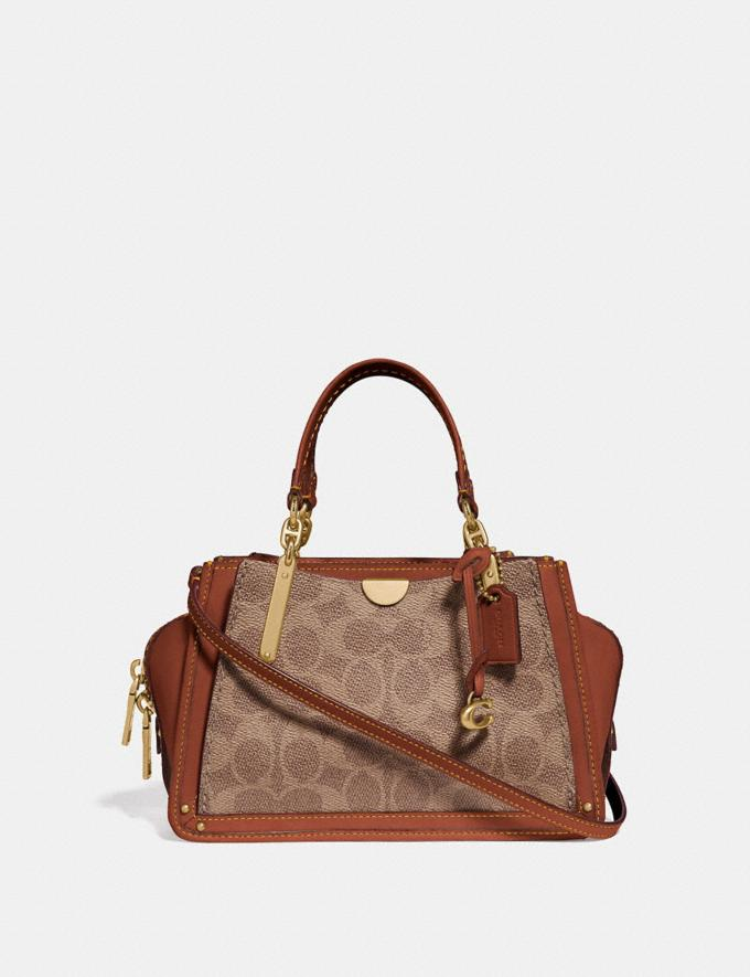 Coach Dreamer 21 in Signature Canvas Tan/Rust/Brass Women Collection Signature Styles
