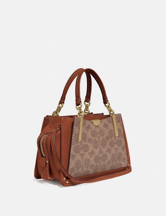 Coach Dreamer 21 in Signature Canvas Tan/Rust/Brass Women Collection Signature Styles Alternate View 1