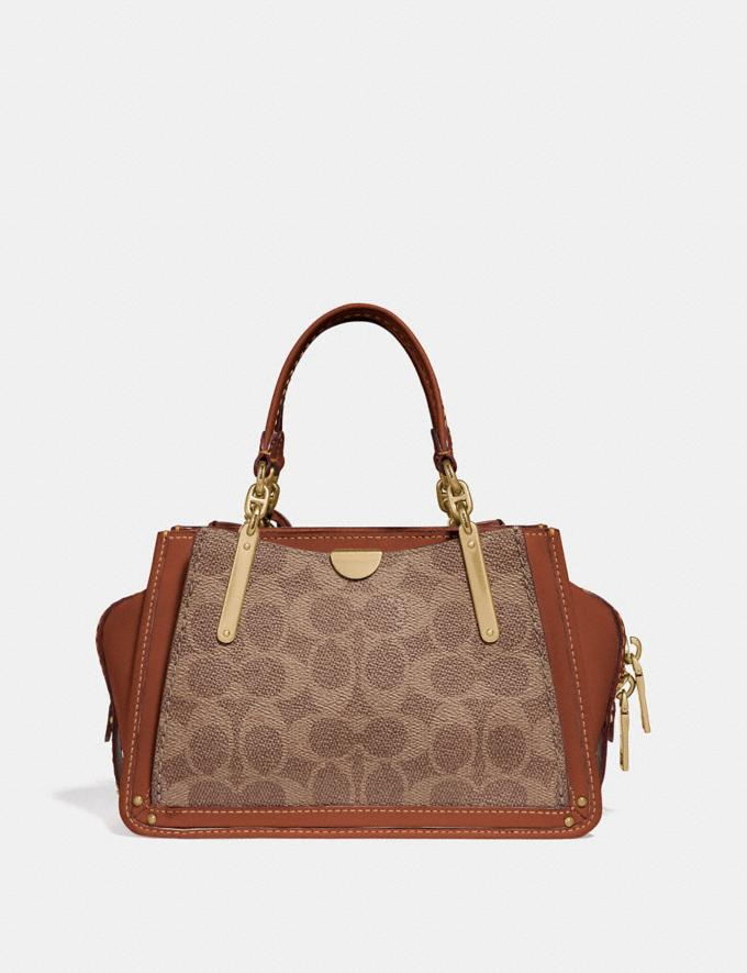 Coach Dreamer 21 in Signature Canvas Tan/Rust/Brass Women Collection Signature Styles Alternate View 2