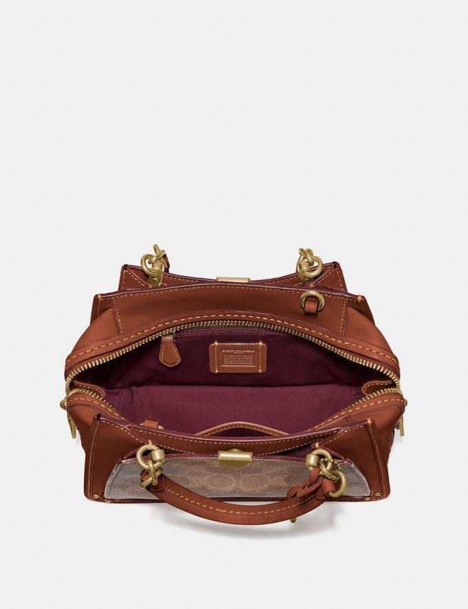 Coach Dreamer 21 in Signature Canvas Tan/Rust/Brass Women Collection Signature Styles Alternate View 3