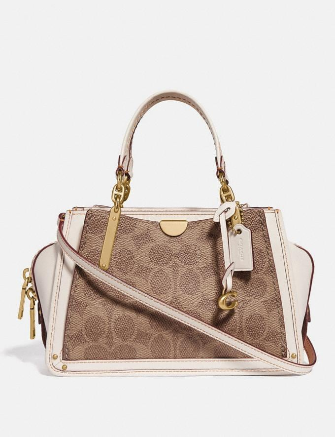 Coach Dreamer 21 in Signature Canvas Tan/Chalk/Brass