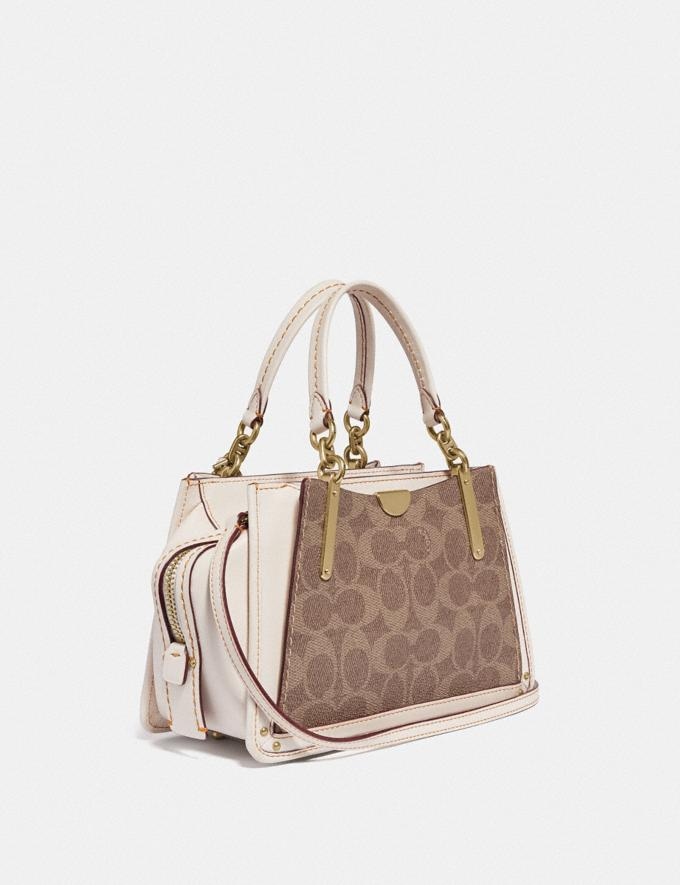 Coach Dreamer 21 in Signature Canvas Tan/Chalk/Brass  Alternate View 1