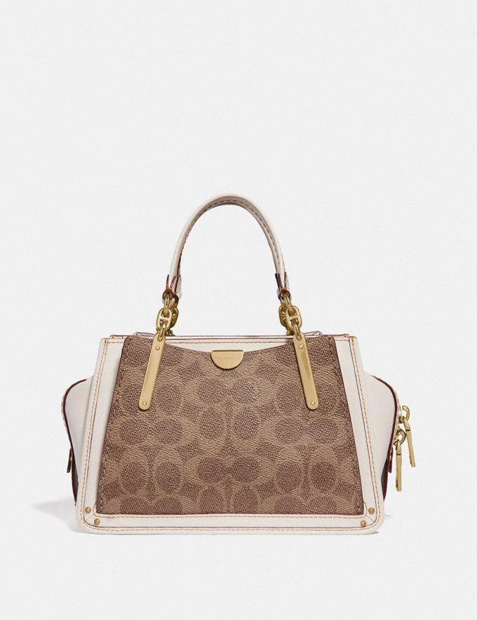 Coach Dreamer 21 in Signature Canvas Tan/Chalk/Brass  Alternate View 2