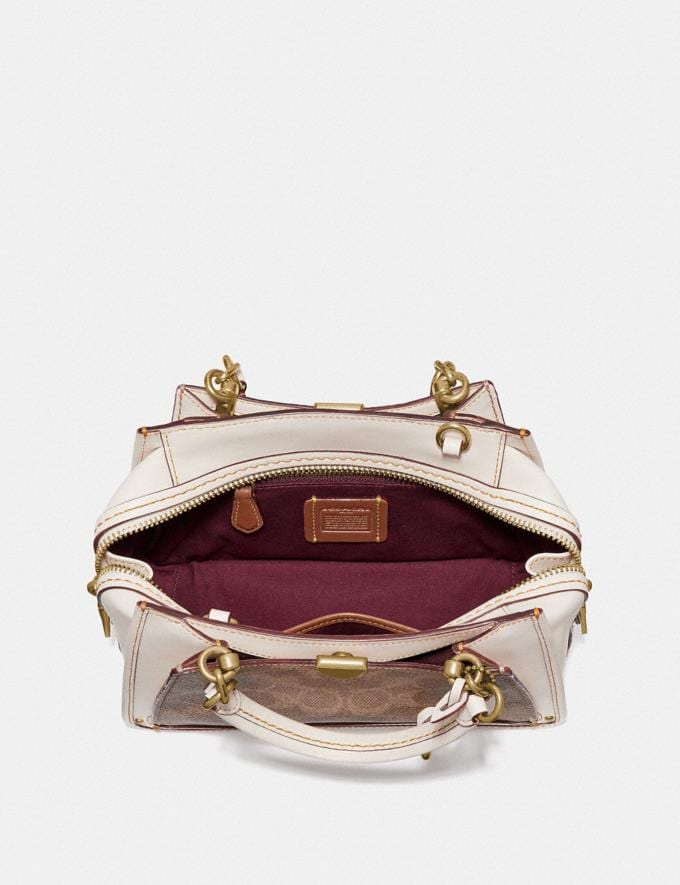 Coach Dreamer 21 in Signature Canvas Tan/Chalk/Brass  Alternate View 3