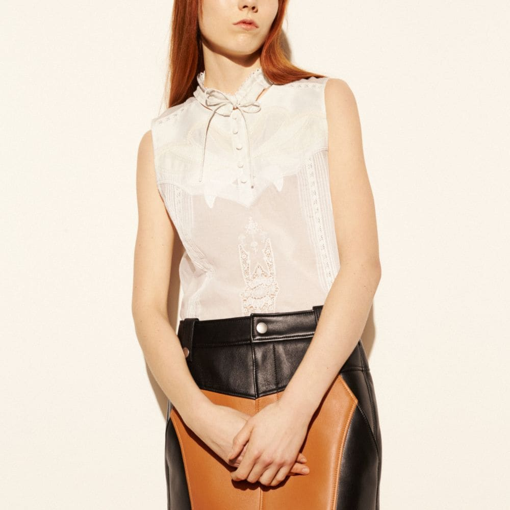 SHRUNKEN BROIDERIE ANGLAISE TOP