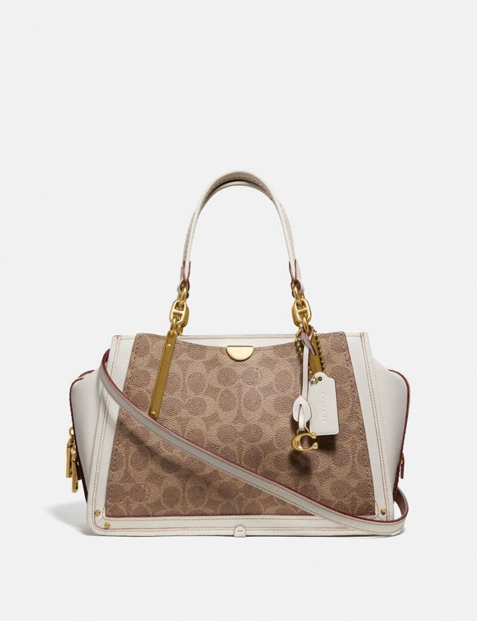 Coach Dreamer in Signature Canvas Tan/Chalk/Brass New Women's New Arrivals View All