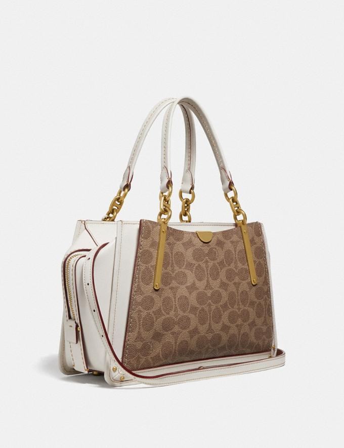 Coach Dreamer in Signature Canvas Tan/Chalk/Brass Women Bags Satchels & Carryalls Alternate View 1