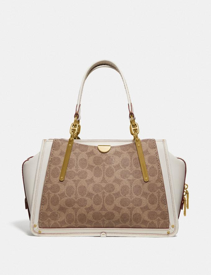 Coach Dreamer in Signature Canvas Tan/Chalk/Brass Women Handbags Satchels & Carryalls Alternate View 2