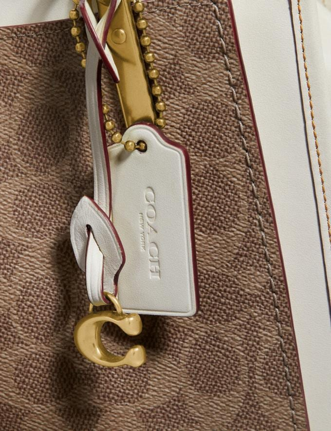 Coach Dreamer in Signature Canvas Tan/Chalk/Brass New Women's New Arrivals View All Alternate View 7