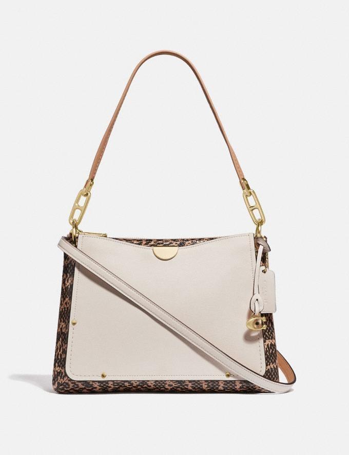 Coach Dreamer Shoulder Bag With Snakeskin Detail Chalk Multi/Gold Women Handbags Shoulder Bags & Hobos