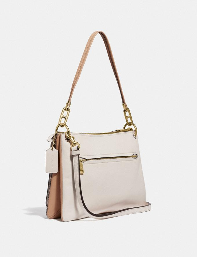 Coach Dreamer Shoulder Bag With Snakeskin Detail Chalk Multi/Gold New Women's New Arrivals Bags Alternate View 1