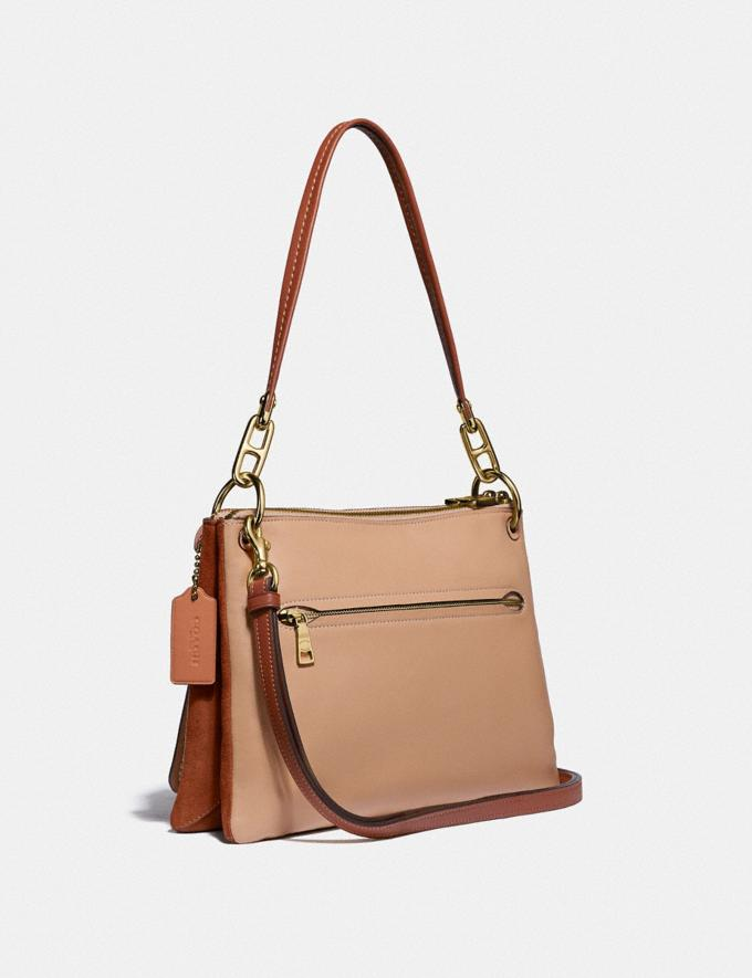 Coach Dreamer Shoulder Bag in Colorblock Sunrise Multi/Gold Women Bags Shoulder Bags Alternate View 1