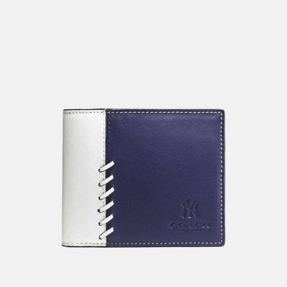 Coach Mlb Compact Id Wallet With Rip and Repair