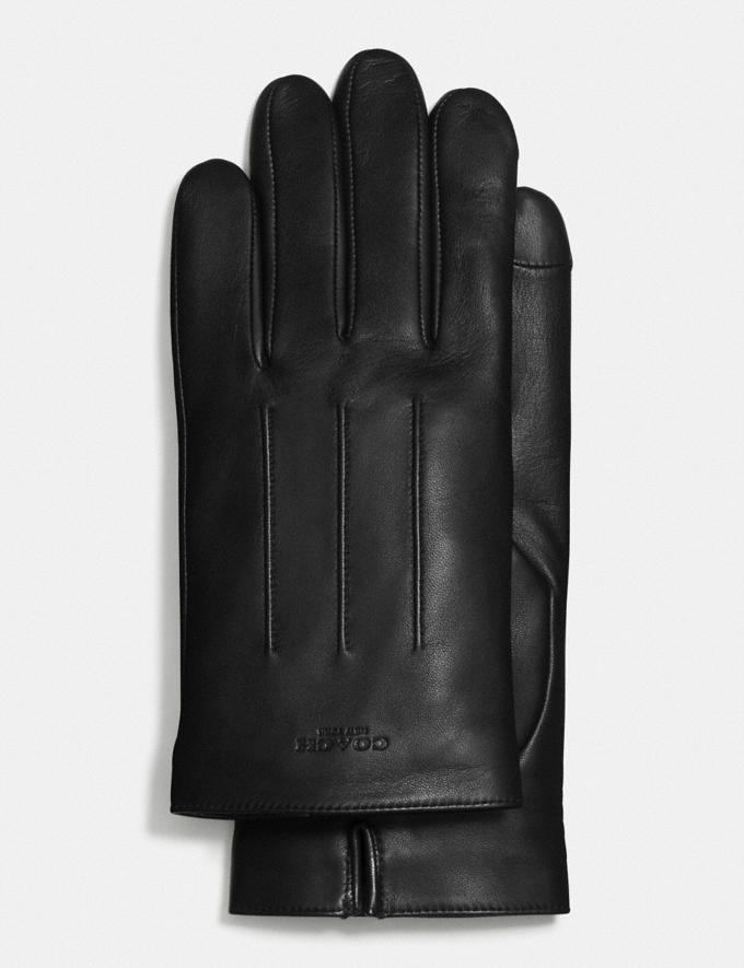 Coach Leather Gloves Black null
