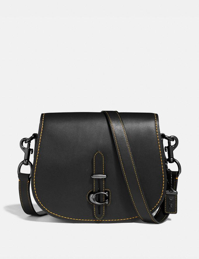 Coach Saddle Black/Pewter Women Bags Crossbody Bags