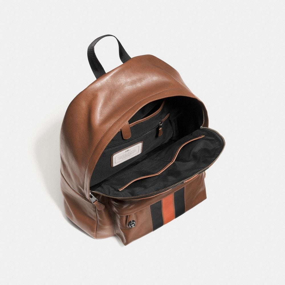 Modern Varsity Campus Backpack in Sport Calf Leather - Autres affichages A3