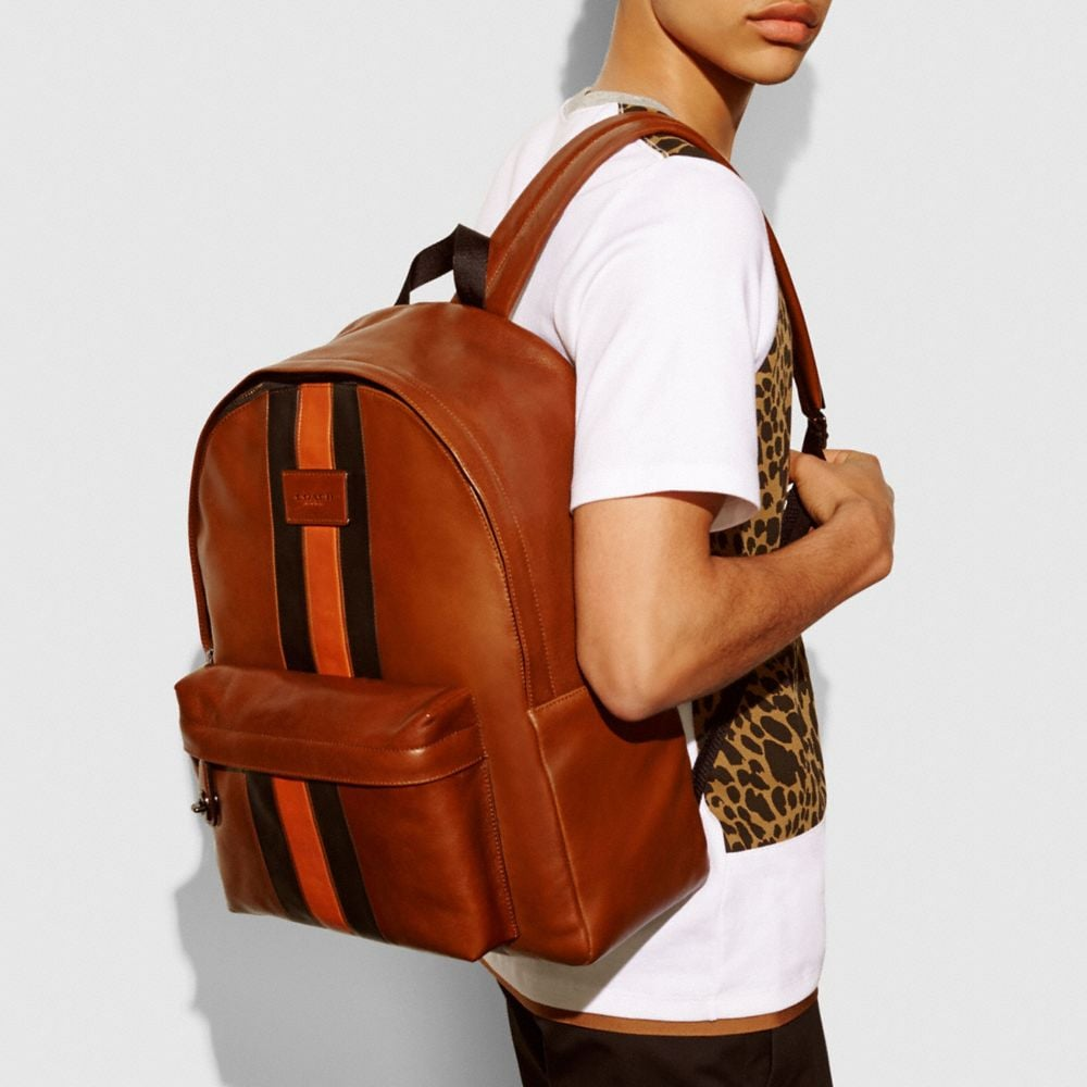 MODERN VARSITY CAMPUS BACKPACK IN SPORT CALF LEATHER - Autres affichages A4
