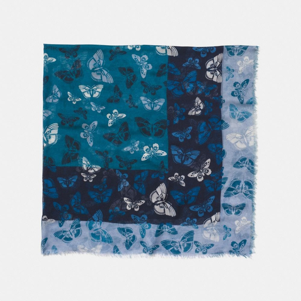 Coach Butterfly Woven Oversized Square Scarf
