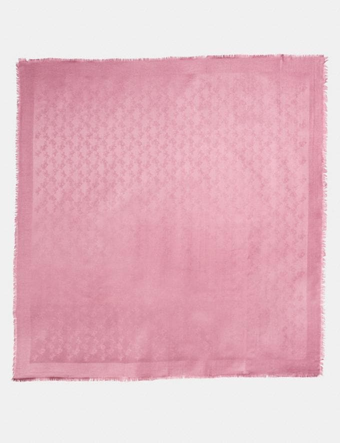 Coach Tonal Horse and Carriage Oversized Scarf Dusty Rose