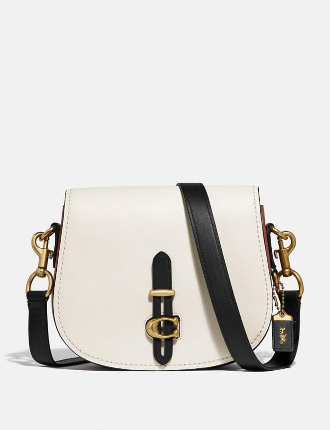 Coach Saddle in Colorblock Chalk/Brass New Featured Archival Icons