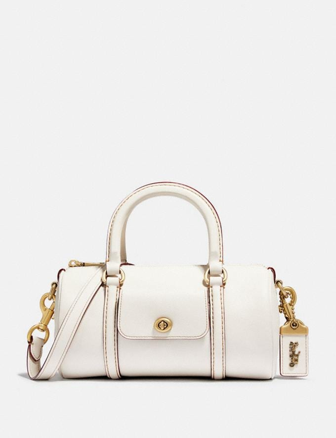 Coach Barrel Bag Chalk/Brass Women Bags Crossbody Bags