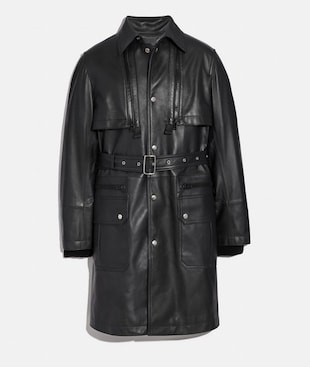 LEATHER RAINCOAT