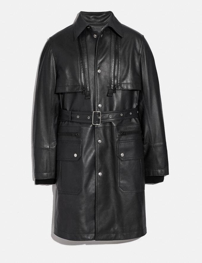 Coach Leather Raincoat Black Women Ready-to-Wear Coats & Jackets