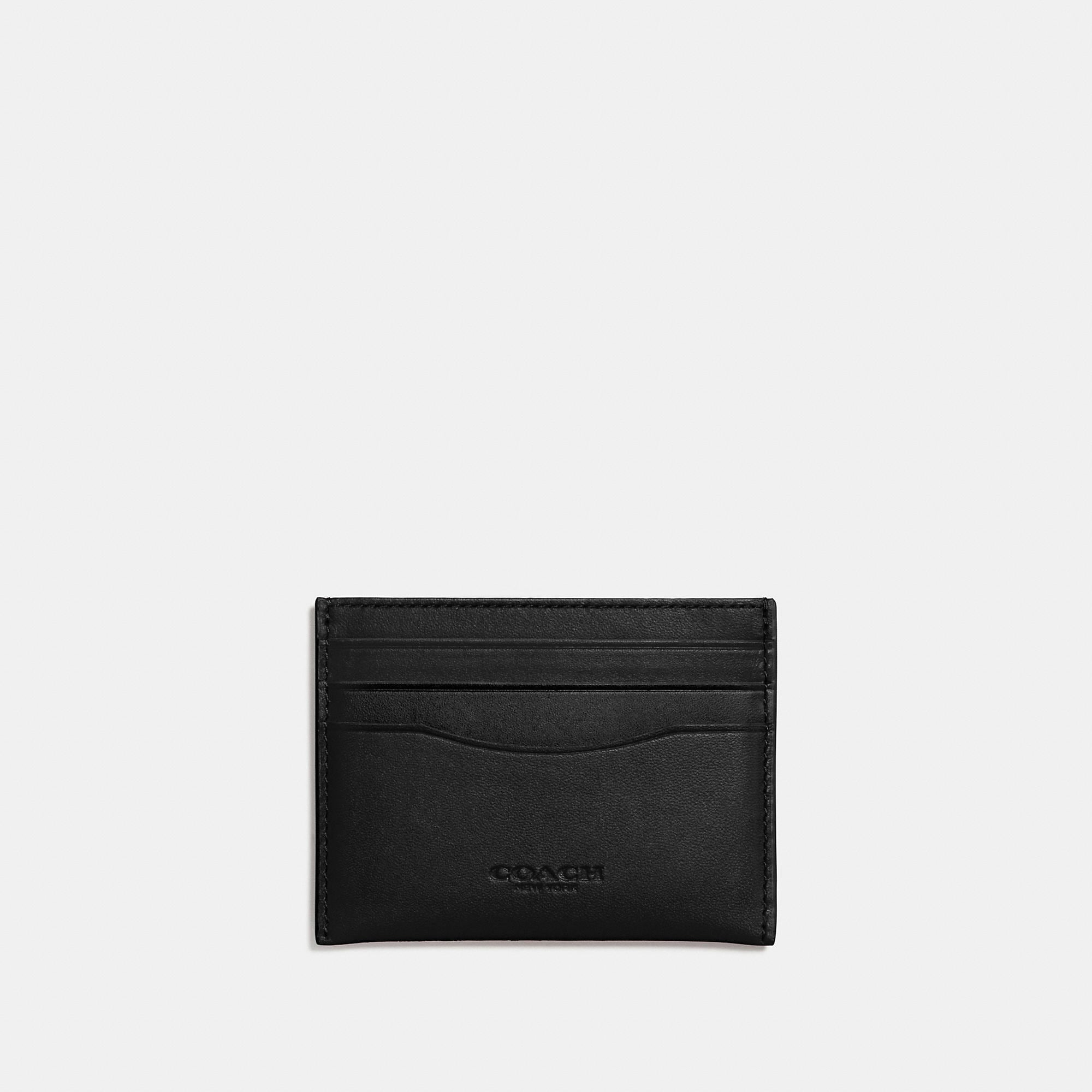 Coach Flat Card Case In Glovetanned Leather