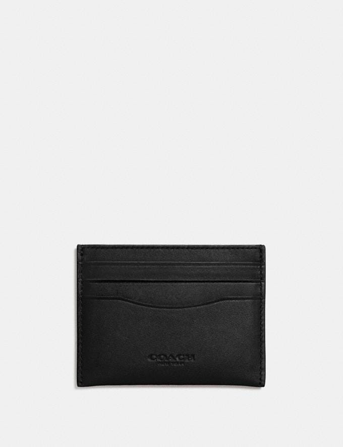 Coach Card Case Dark Gunmetal/Black Women Small Leather Goods Card Cases