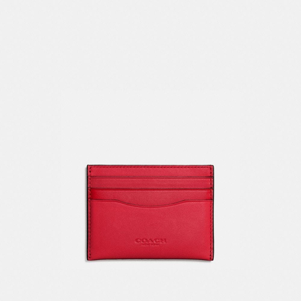 FLAT CARD CASE IN GLOVETANNED LEATHER