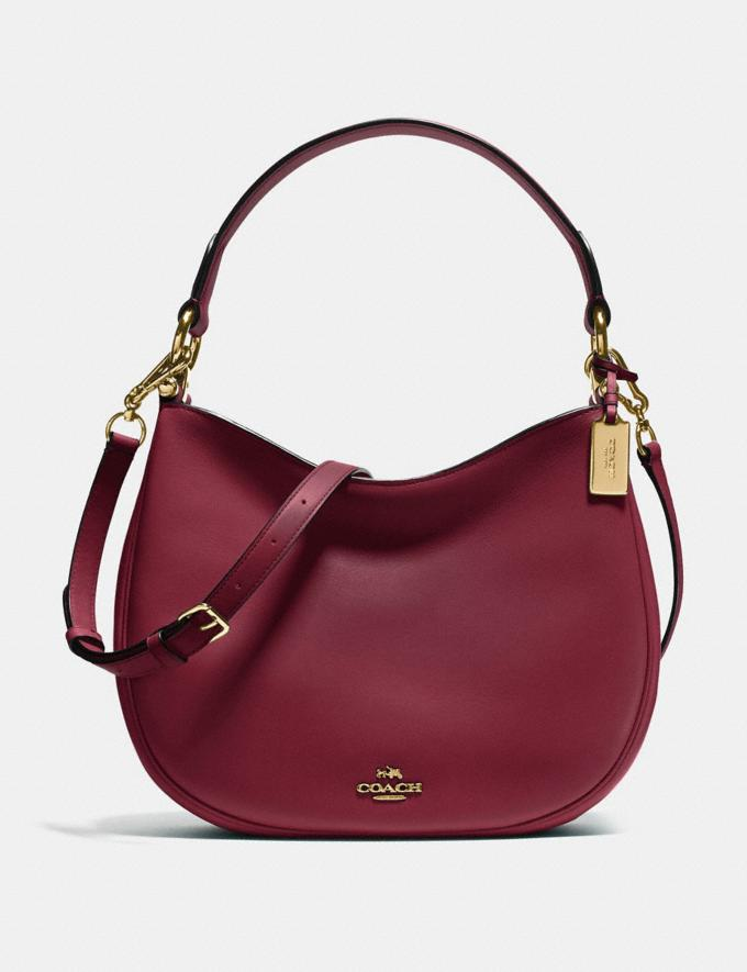 Coach Mae Crossbody Burgundy/Light Gold Women Bags Crossbody Bags