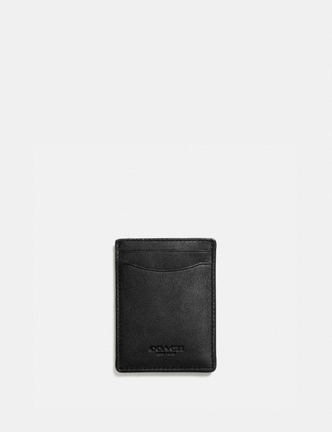 Coach 3-In-1 Card Case Black Men Wallet Guide Card