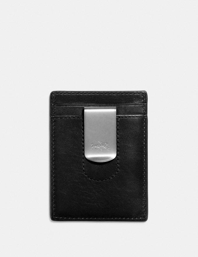Coach 3-In-1 Card Case Black Men Wallet Guide Card Alternate View 1