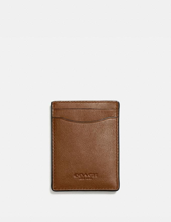 Coach 3-In-1 Card Case Dark Saddle Men Accessories
